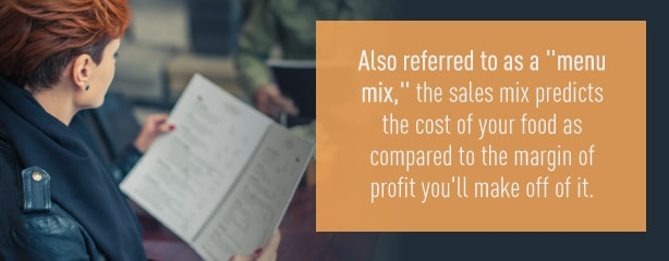 what is a sales mix or menu mix